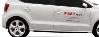 Car with magnetic sign