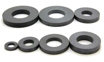 <p>Also known as ceramic magnets, ferrite magnets offer excellent value for money when pull strength is not the most important factor. They have a high resistance to corrosion and produce an incredibly deep magnetic field.</p> <p>Ring magnets are made specifically for loudspeaker systems and their sizes have evolved with demand from this market. However, they are also commonly used in magnetic rollers for separating applications and in the printing industry. They are also a vital component found in fast running conveyor systems in many manufacturing plants dealing with ferrous material.</p>