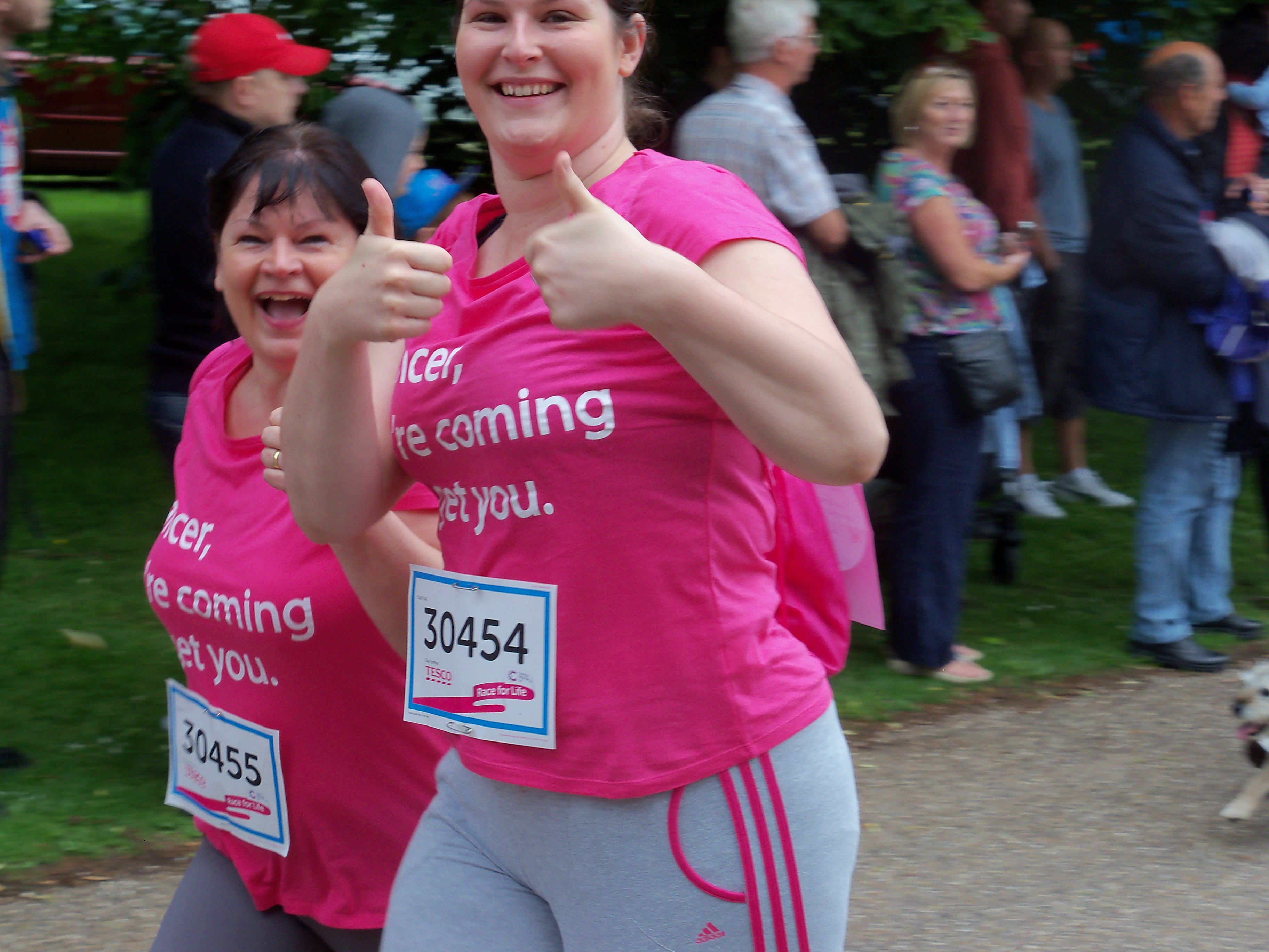 Sherryl Etches completing the Race for Life at Clumber Park on Saturday, 22 June, 2013.