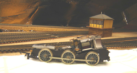 Refurbished Tri-ang/Hornby X04 motor inserted into locomotive.