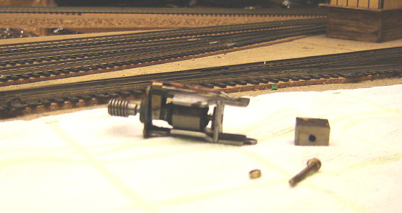 Old alnico magnet removed from Tri-ang/Hornby X04 motor