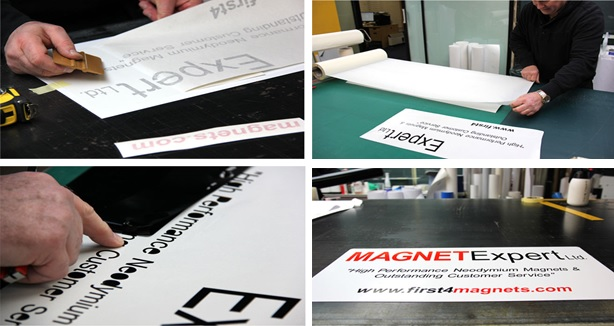 Magnetic vehicle sign printing