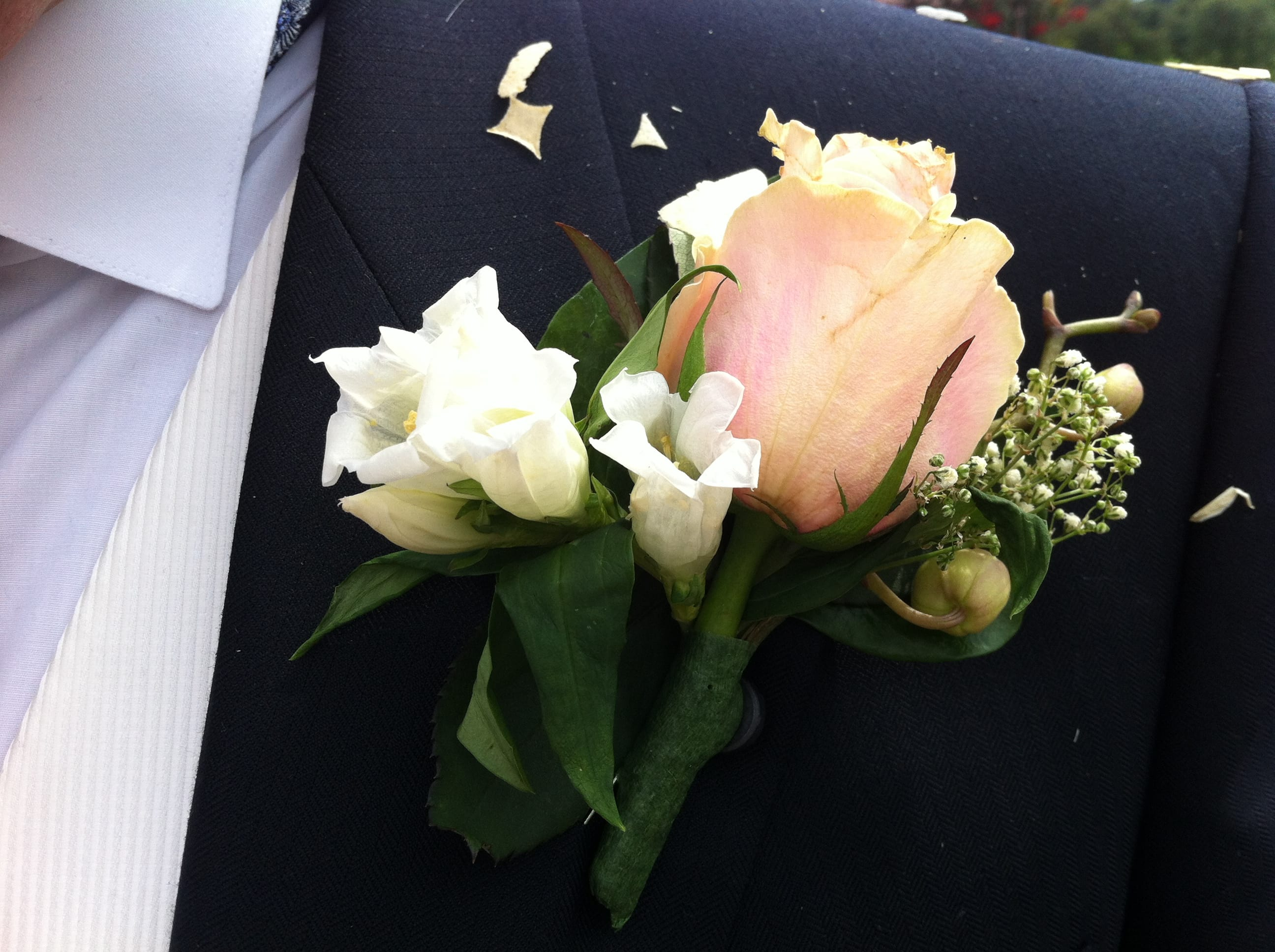 Bridegroom Rose Onhole Held In Place With Magnets