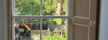 Victorian window shutter