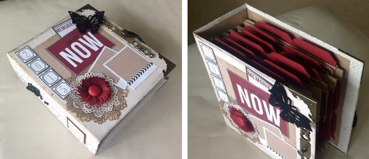 finsihed scrapbook for storing photographs and keepsakes