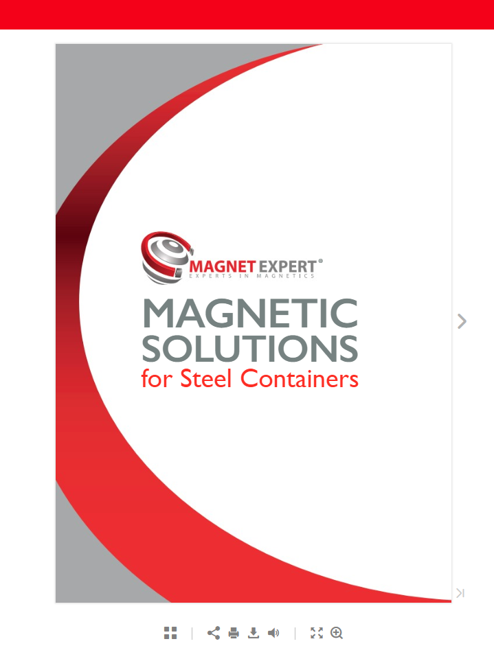 Magnetic Solutions for Steel Containers Front Cover