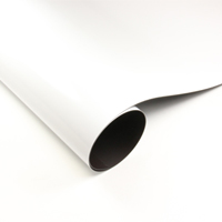 Roll of gloss white magnetic sheet