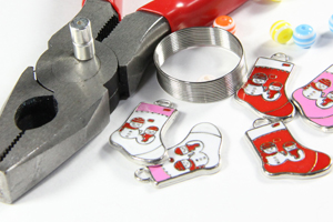 Equipment needed for creating magnetic wine glass charms