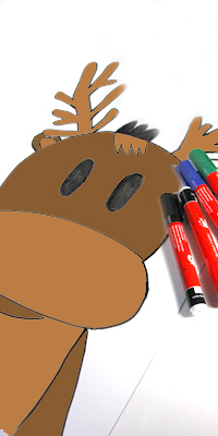 picture relating to Pin the Nose on Rudolph Printable identify Create a pin the nose upon Rudolph the Reindeer activity