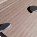 Broken magnet removed from a speaker