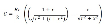 equation for calculating the flux density of  disc magnet over distance