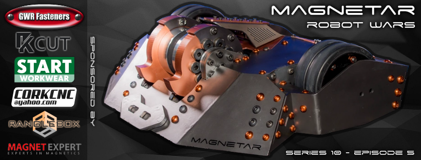 Magnet Expert Ltd Sponsor Magentar from Robot Wars