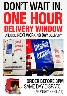 Don't wait in. Benefit from a one hour delivery window.