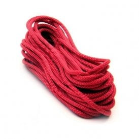10 metres of 4mm dia Polyester Rope - Red (420kg breaking strength) (10 x 10 metre lengths)