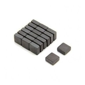 10 x 10 x 5mm thick Isotropic Y30 Ferrite Magnet - 0.08kg Pull