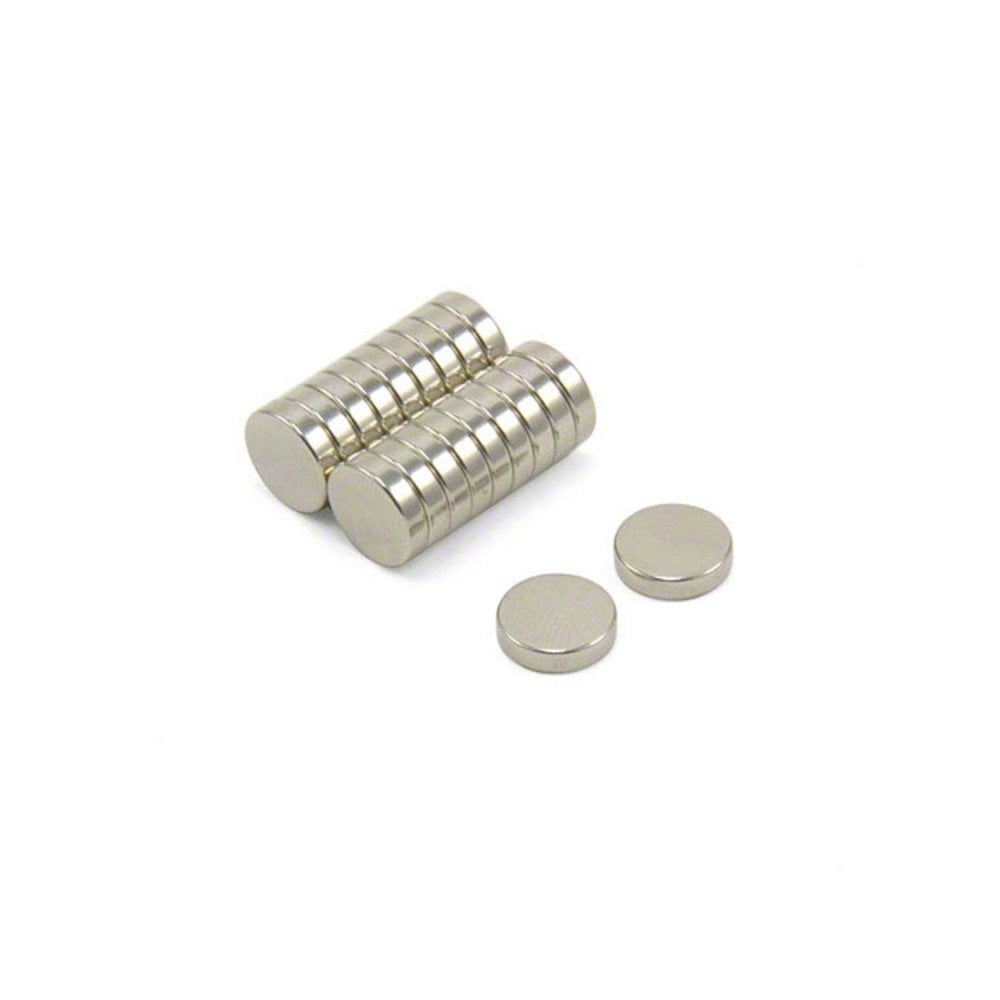 1.4kg Pull 7mm dia x 5mm thick N35 Neodymium Magnets Pack of 20