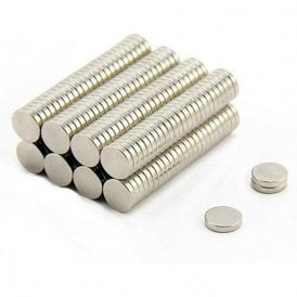 10mm dia x 2mm thick N42 Neodymium Magnet - 1.44kg Pull ( Pack of 200 )