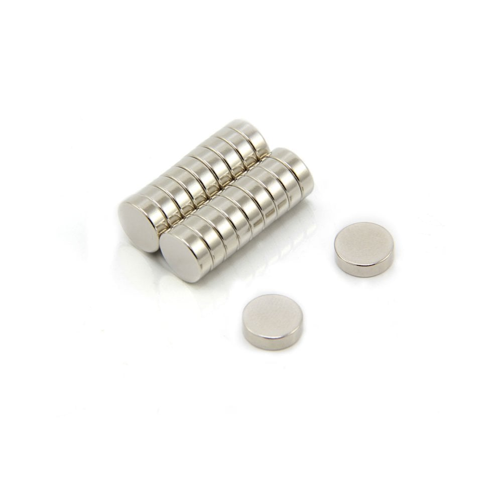 15mm dia x 2mm thick N35 Neodymium Magnet Pack of 10 1.8kg Pull