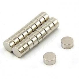 10mm dia x 5mm thick N35 Neodymium Magnet - 2.5kg Pull