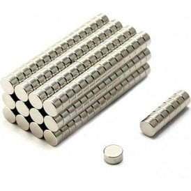 10mm dia x 5mm thick Ultra High Performance N52 Neodymium Magnet - 3.2kg pull ( Pack of 200 )