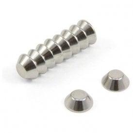 10mm O.D. x 5mm I.D. x 4mm thick N42 Neodymium Cone Magnet - 1.4kg Pull
