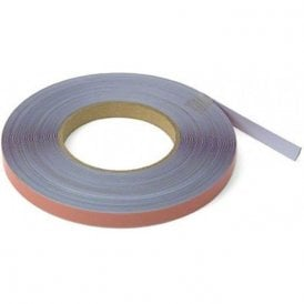 12.5mm wide x 0.4mm thick Gloss White Steel Tape with Premium Self Adhesive ( 20x30m Length )