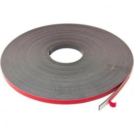 12.7mm wide x 2.5mm thick Foam Adhesive Magnetic Tape - Polarity A (5 x 30m length)