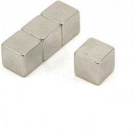 12 x 12 x 12mm thick N42 Neodymium Magnet - 7.4kg Pull ( Pack of 4 )
