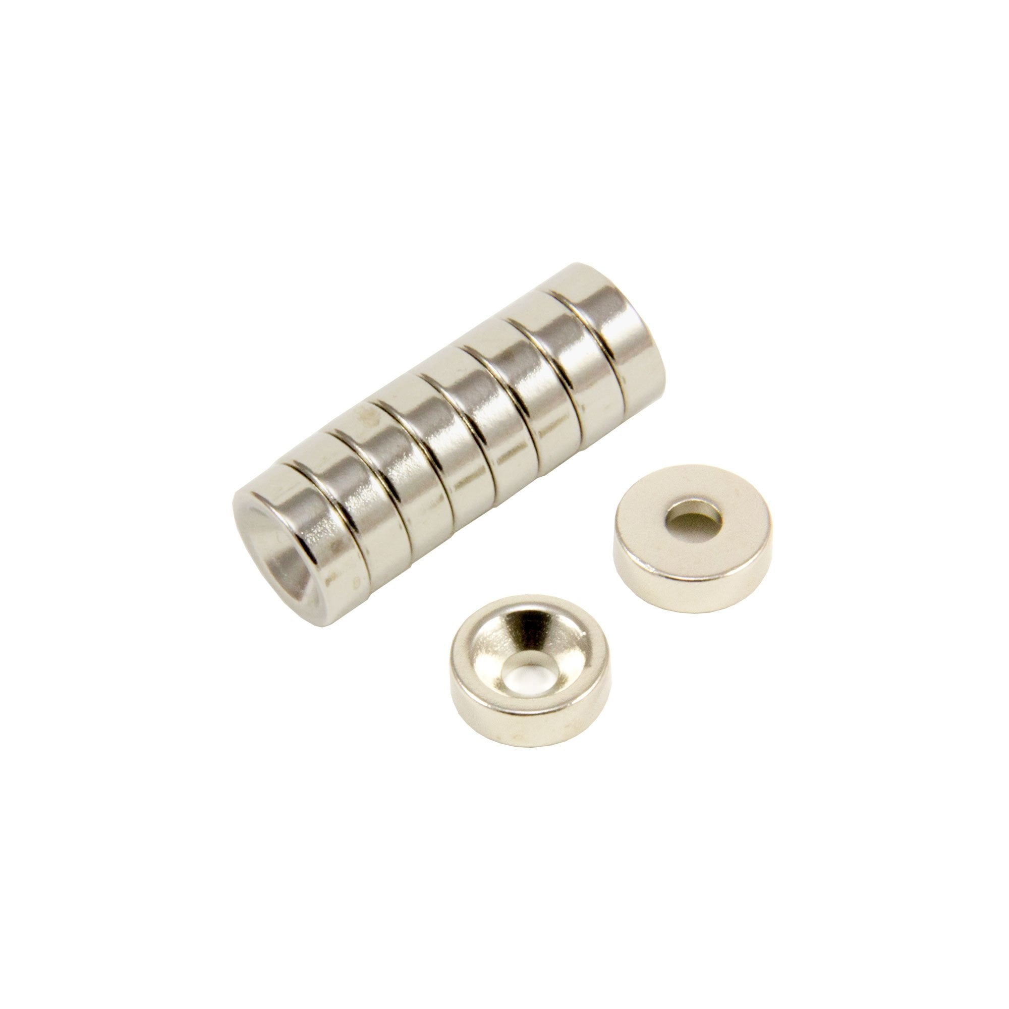 0.5kg Pull 5mm dia x 10mm thick Samarium Cobalt Magnet High Temp x4