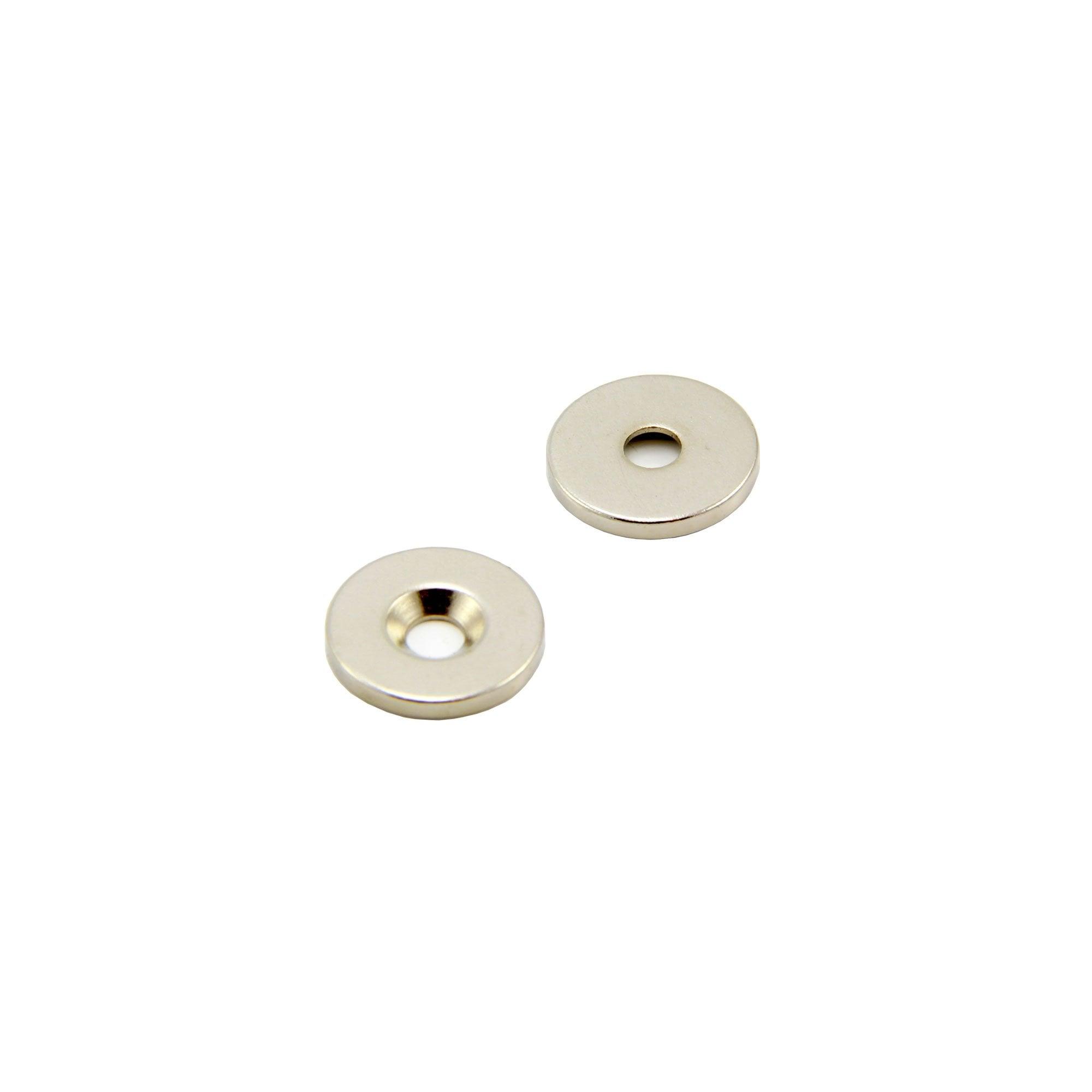 tenuta fino a 7,1 kg first4magnets F205S-2 6 mm al neodimio Magnete con testa svasata 2 pz. /ø 20 x 5 mm