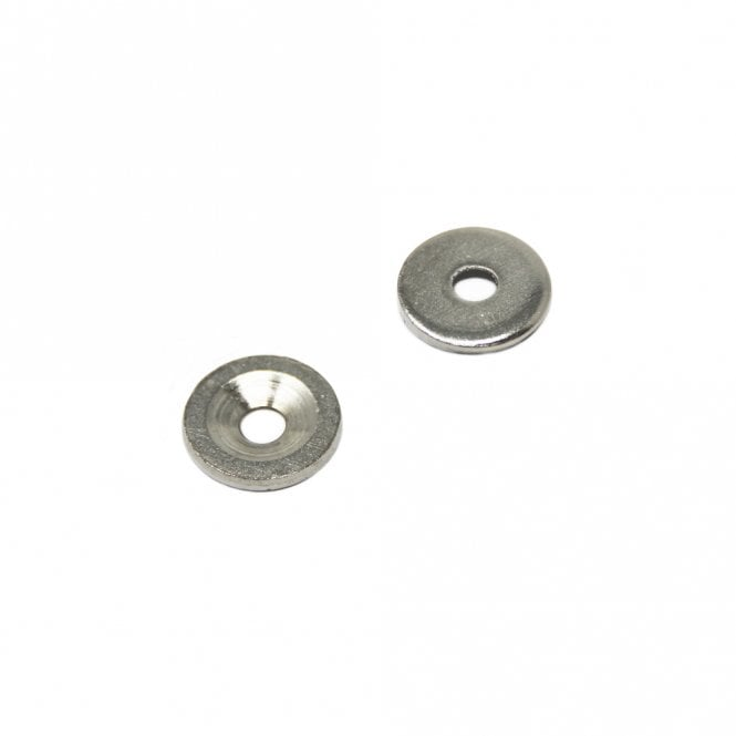 15mm dia x 2mm thick x 4.2mm c/sink Nickel Plated Mild Steel Disc