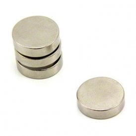 15mm dia x 4mm thick N35 Neodymium Magnet - 2.8kg Pull ( Pack of 4 )
