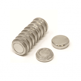 16mm dia x 5mm thick N35 Neodymium Top Hat Pot Magnet - 2.4kg Pull (20 Packs of 10)