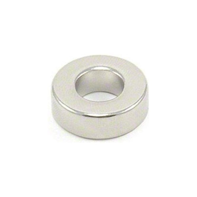 19.1 mm dia x 6.4mm thick N42 Neodymium Magnet with 9.5mm hole - 8.1kg Pull