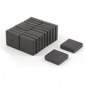 19 x 19 x 5mm thick Y10 Ferrite Magnets - 0.48kg Pull (Pack of 20)