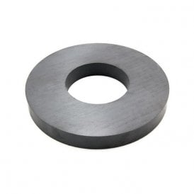190mm O.D. x 85mm I.D. x 23mm thick Y30BH Ferrite Ring Magnet -16kg Pull (Pack of 10)
