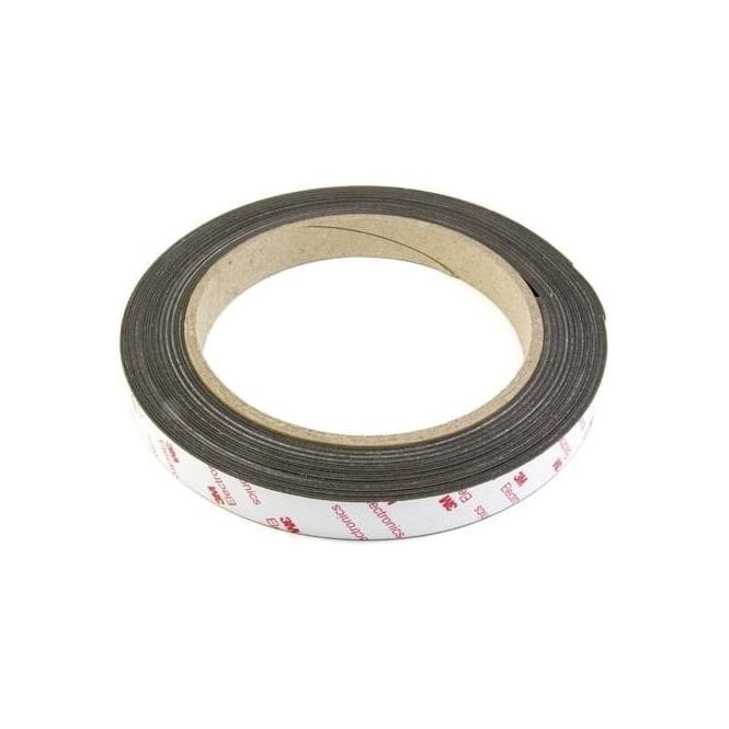 19mm wide x 0.85mm thick Flexible Neodymium Magnetic Tape with 3M Self Adhesive - Self Mating