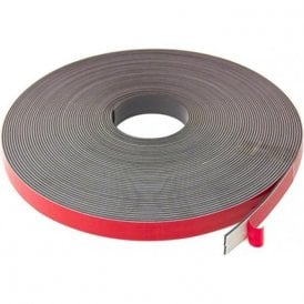 19mm wide x 2.5mm thick Foam Adhesive Magnetic Tape - Self Mating (5 x 30m length)