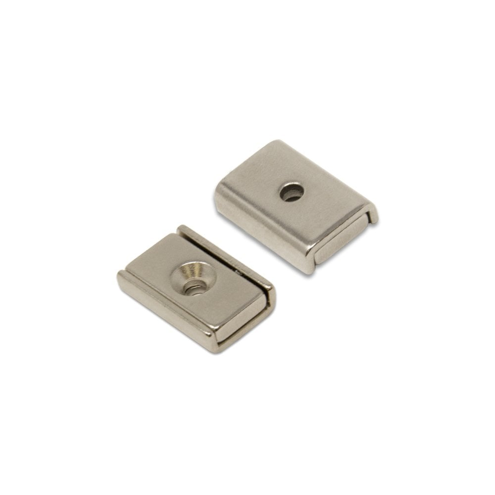 36kg Pull Neodymium Channel Magnet with 2x 3.3mm c//sunk holes Pack of 1