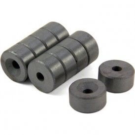 20mm dia x 10mm thick x 5.2mm c/sink Ferrite Magnet - 1.2kg Pull (North) (Pack of 100)