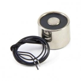 20mm dia x 15mm thick Electromagnet with M3 Mounting Hole - 2.5kg Pull (3W / 0.13A) (Pack of 1)