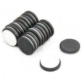 20mm dia x 3mm thick Y10 Ferrite Magnet with Self Adhesive Foam - 0.6kg Pull (Pack of 20)