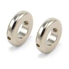 20mm O.D x 10mm I.D x 5mm thick N42 Neodymium Magnet - 3.2kg Pull