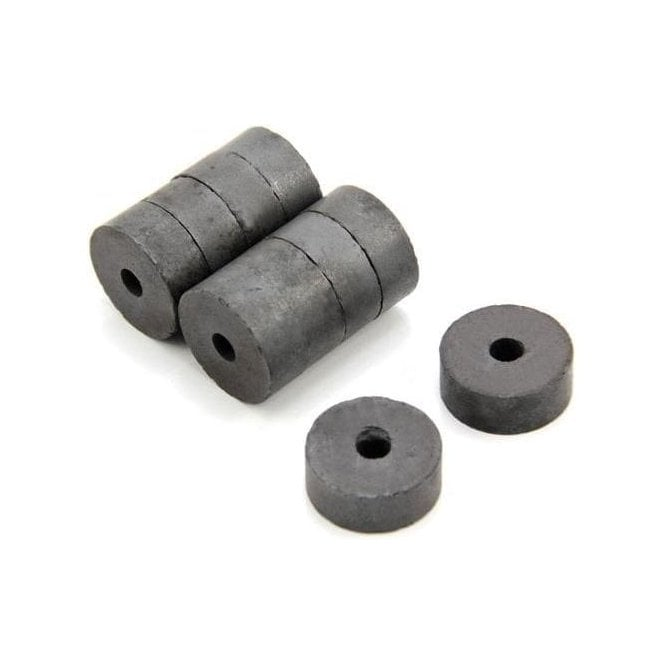 x 4mm I.D x 3mm thick Y10 Ferrite Magnets Magnet Expert 8mm O.D Pack of 20 0.07kg Pull