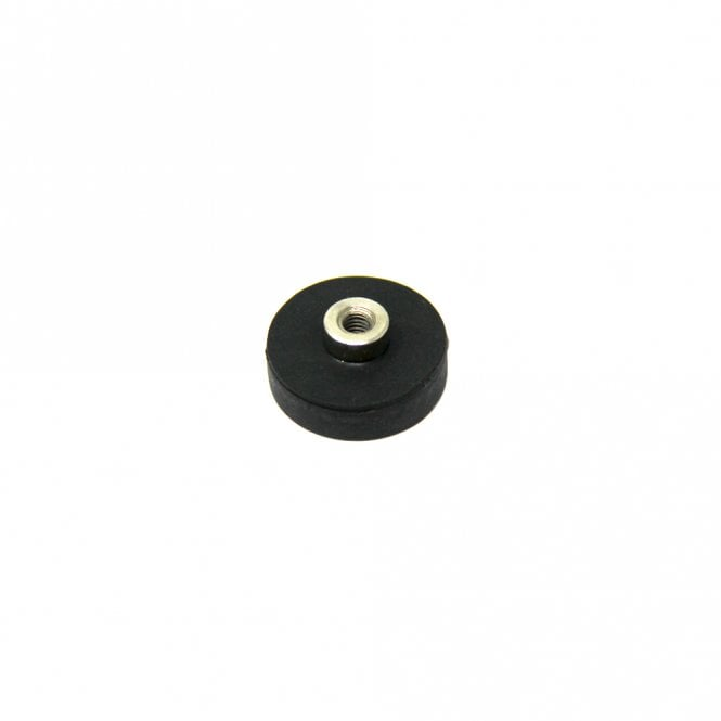 22mm dia x 6mm high Rubber Coated POS Magnet c/w M4 Boss Thread