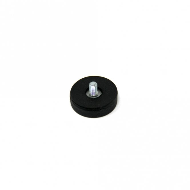 22mm dia x 6mm thick Rubber Coated POS Magnet c/w M4 x 6mm External Thread