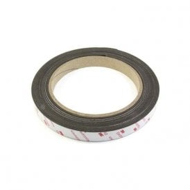 25.4mm wide x 0.85mm thick Flexible Neodymium Magnetic Tape with 3M Self Adhesive (1 metre length)