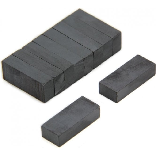 25 x 10 x 6mm thick Y30BH Ferrite Magnet - 0.8kg Pull (Pack of 200)