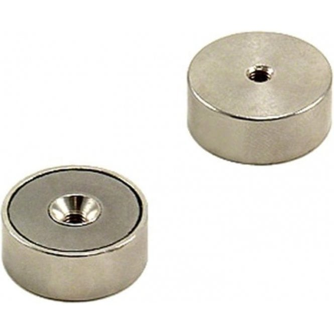 25mm dia x 10mm thick x M4 thread hole Samarium Cobalt Pot Magnet - 16.7kg Pull