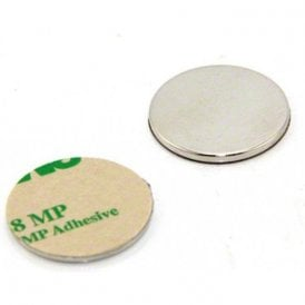 25mm dia x 2mm thick N42 Neodymium Adhesive Magnet - 3.5kg Pull ( North ) ( Pack of 2 )